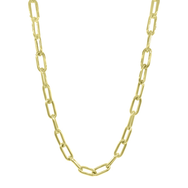 Large 14K Gold Oval Link Necklace - Designer Necklaces - Jo Nayor