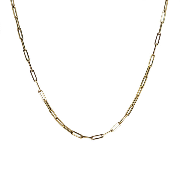 14K Gold Long Link Chain Necklace - Designer Earrings - The EarStylist by Jo Nayor