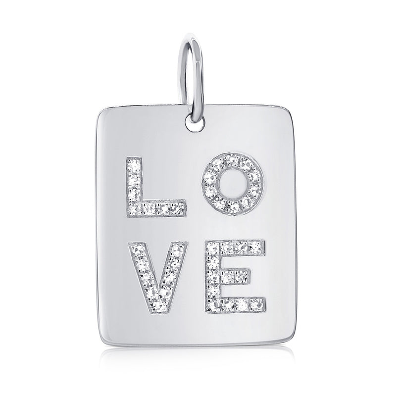 Diamond Love Tag - Designer Earrings - The EarStylist by Jo Nayor