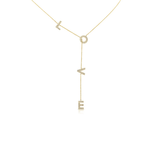Diamond Love Lariat Necklace - Designer Earrings - The EarStylist by Jo Nayor