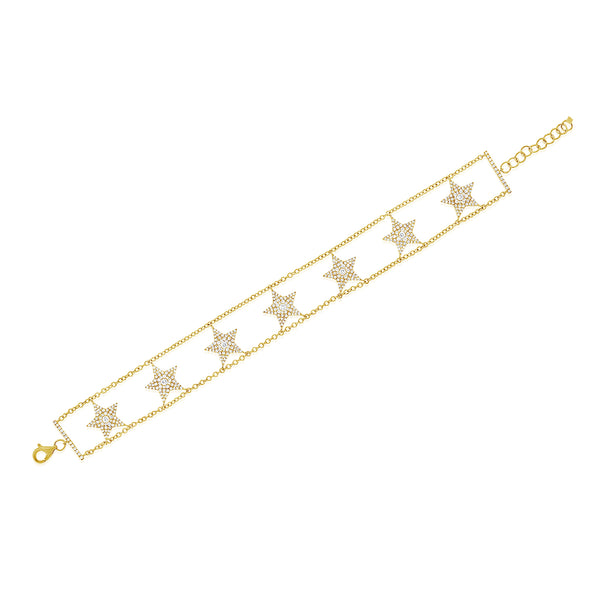 Diamond Star Alexa Bracelet - Designer Earrings - The EarStylist by Jo Nayor