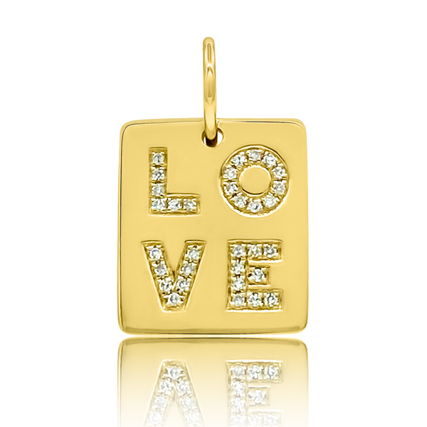 Diamond Mini Love Tag - Designer Necklaces - Jo Nayor Designs