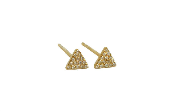Small Gold & Diamond Triangle Earring - Designer Earrings - The EarStylist by Jo Nayor