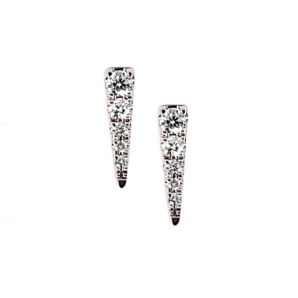 Mini Spike Diamond Earring - Designer Earrings - The EarStylist by Jo Nayor