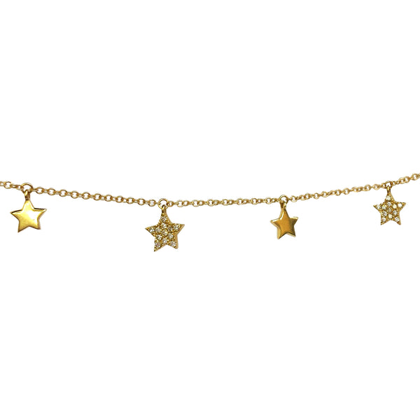 Pave Star Lariat Necklace - The Ear Stylist by Jo Nayor