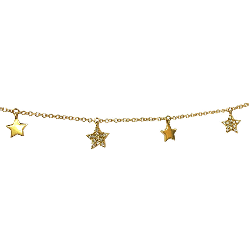 Pave Star Lariat Necklace - Designer Earrings - The EarStylist by Jo Nayor