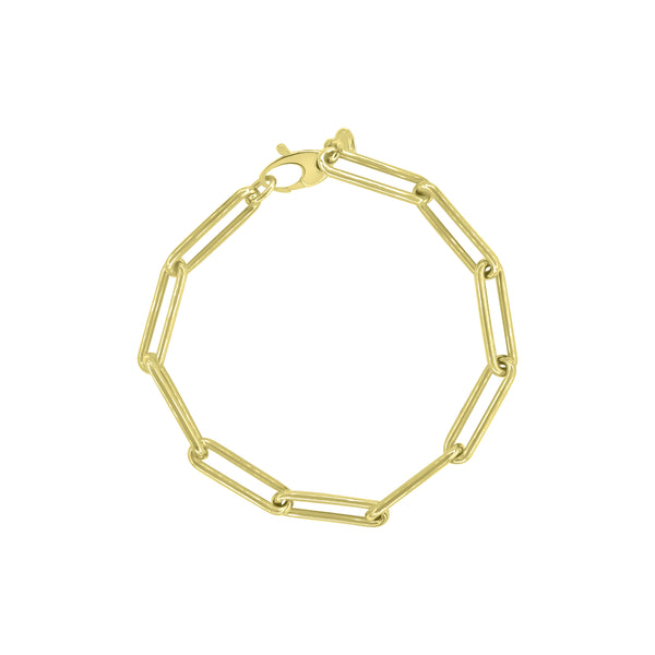 14K Gold Otis Link Bracelet - Designer Earrings - The EarStylist by Jo Nayor