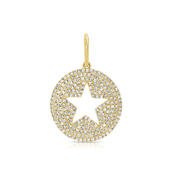 Pave Diamond Star Medallion - Designer Earrings - The EarStylist by Jo Nayor