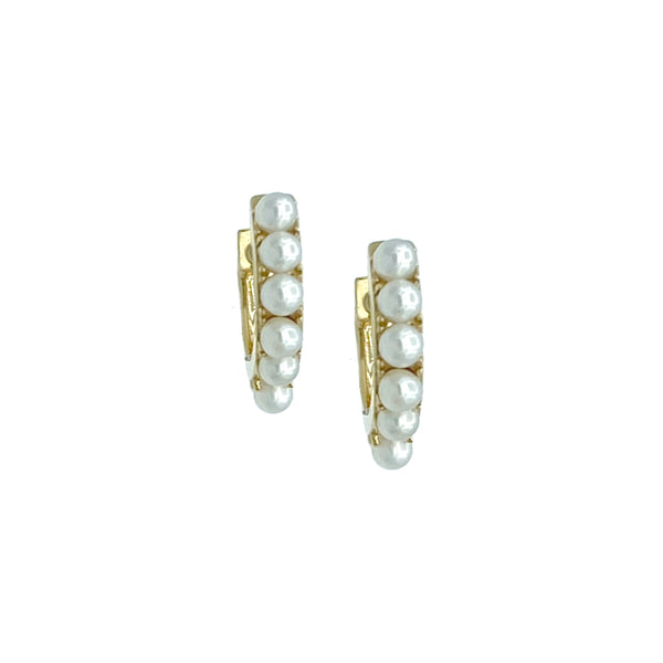 Pearl Eternity Huggie Earring - Designer Earrings - The EarStylist by Jo Nayor