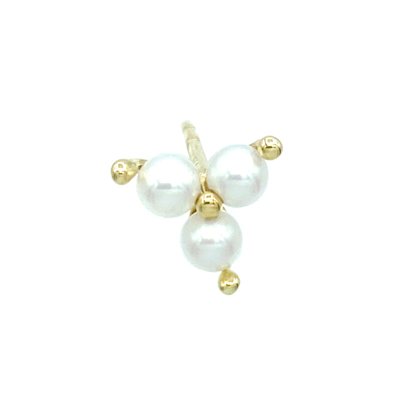 Pearl Trinity Earring - Designer Earrings - The EarStylist by Jo Nayor