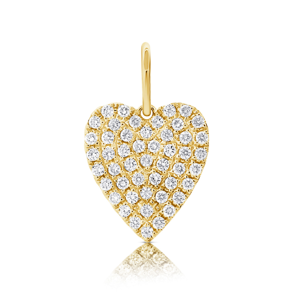 Round Heart Charm - Designer charms - The EarStylist by Jo Nayor
