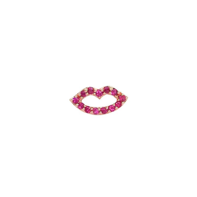 Ruby Lips Post Earring - Designer Earrings - The EarStylist by Jo Nayor