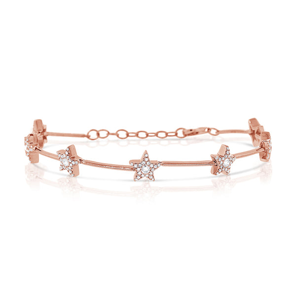 Diamond Star Venus Bracelet - The Ear Stylist by Jo Nayor