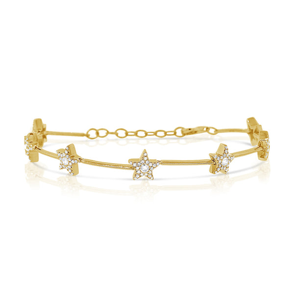 Diamond Star Venus Bracelet - Designer Earrings - The EarStylist by Jo Nayor