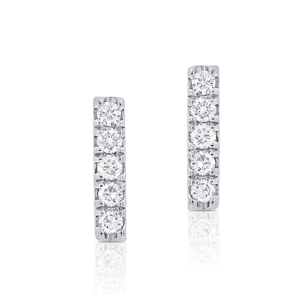 Diamond Mini Stick Stud Earring - Designer Earrings - The EarStylist by Jo Nayor