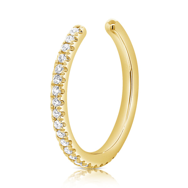 Pave Diamond & Gold Ear Cuff - Designer Earrings - The EarStylist by Jo Nayor