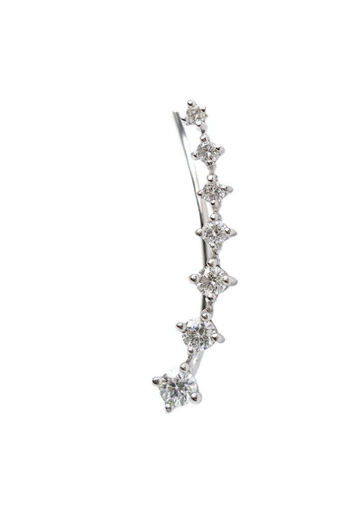 Seven Diamond Climber Earring - The EarStylist by Jo Nayor - 1