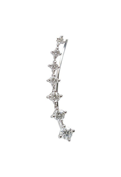 Seven Diamond Climber Earring - The EarStylist by Jo Nayor - 2