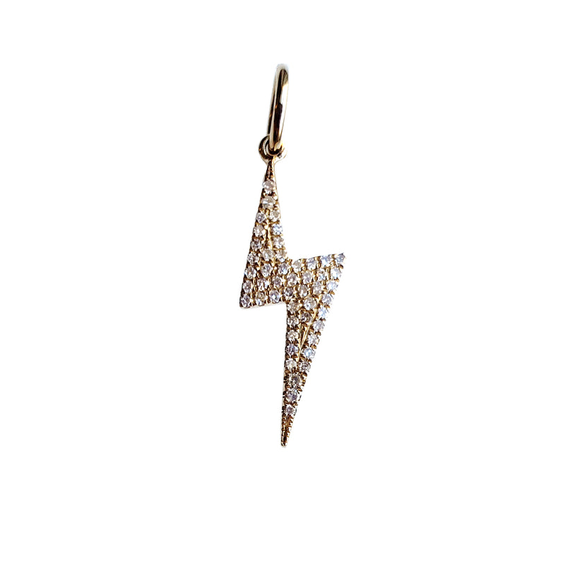 Small Diamond Lightning Bolt Charm - Designer Earrings - The EarStylist by Jo Nayor