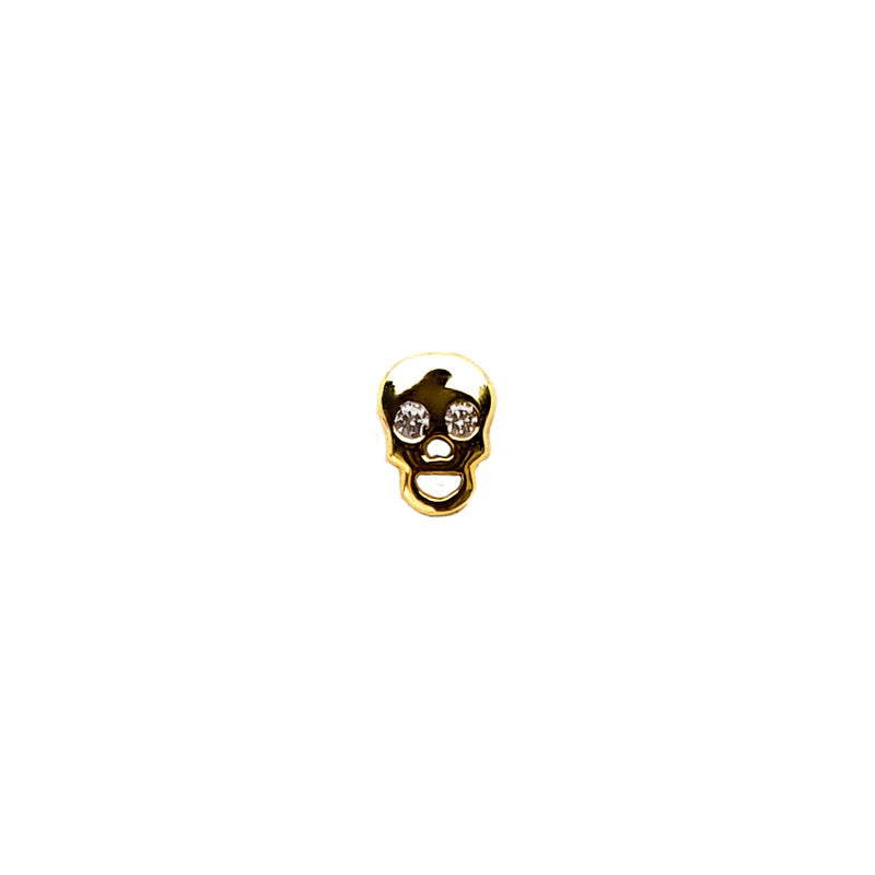 Mini Skull Diamond Earring - Designer Earrings - The EarStylist by Jo Nayor