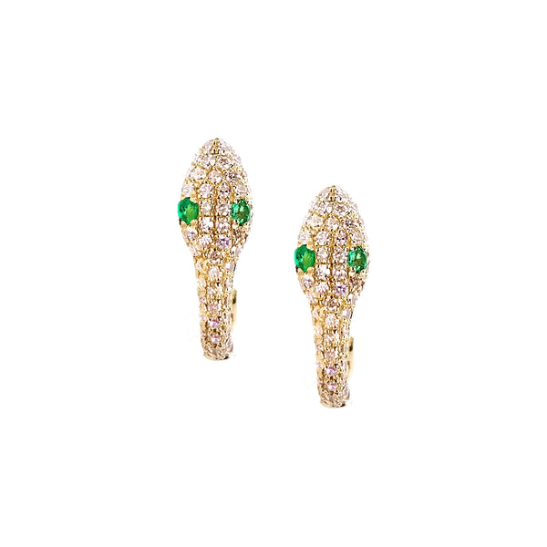 Diamond Serpent Hoop Earrings - The Ear Stylist by Jo Nayor