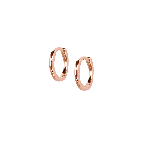 Solid Gold Mini Hoops - Designer Earrings - EarStylist by Jo Nayor