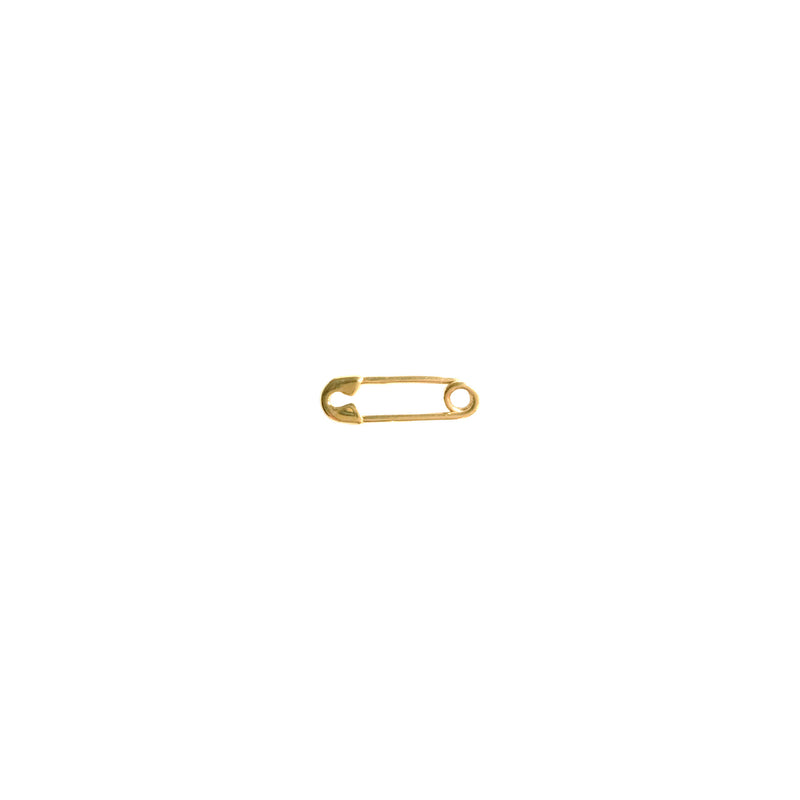Solid 14K Gold Safety Pin Earrings - The Ear Stylist by Jo Nayor