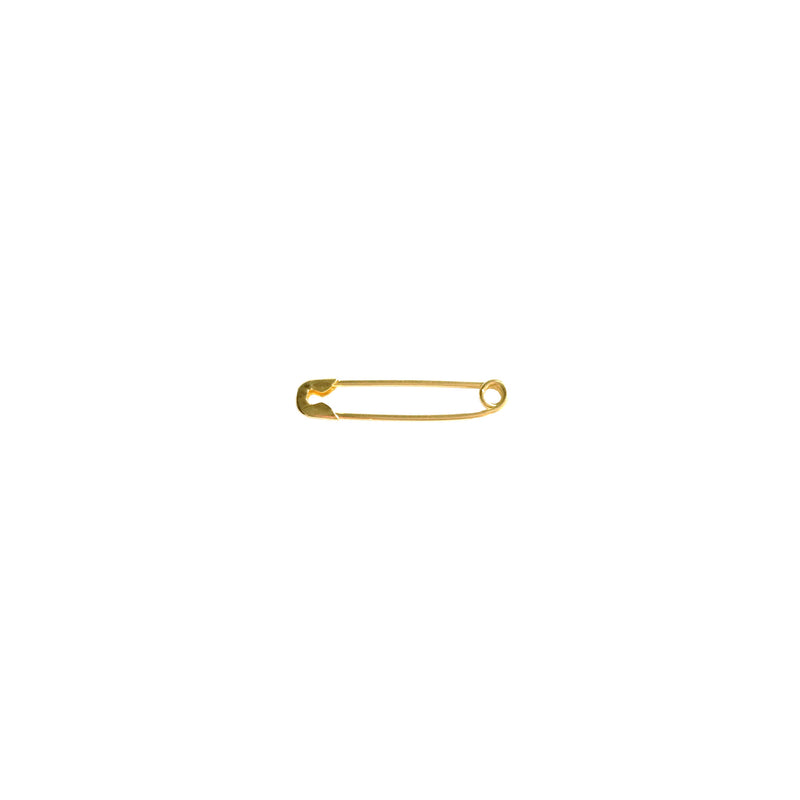 Solid 14K Gold Safety Pin Earrings - Designer Earrings - The EarStylist by Jo Nayor