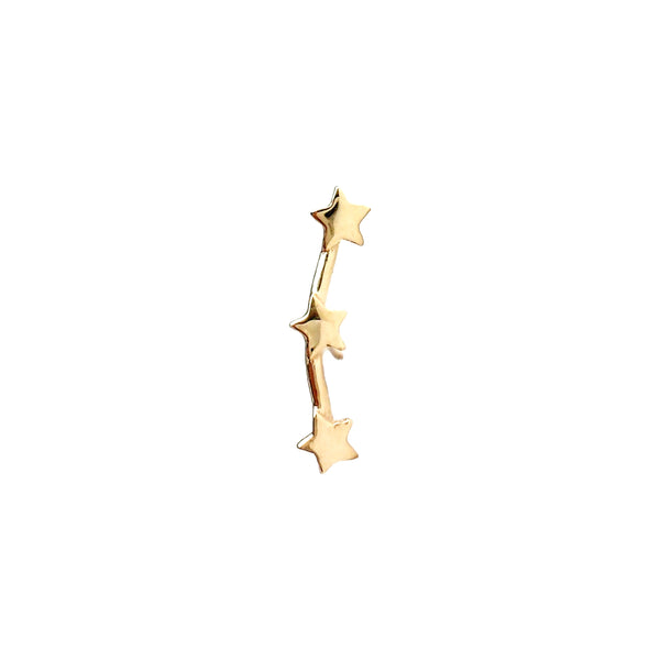Solid Gold Star Constellation - Designer Earrings - The EarStylist by Jo Nayor