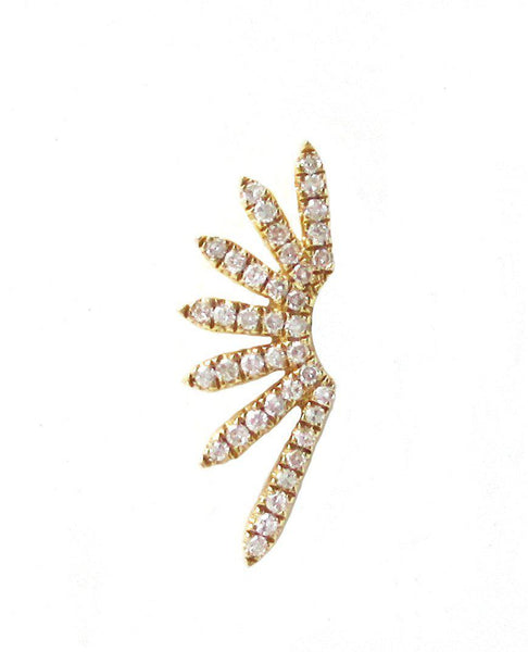 Diamond Sunburst Stud Earring - Designer Earrings - The EarStylist by Jo Nayor