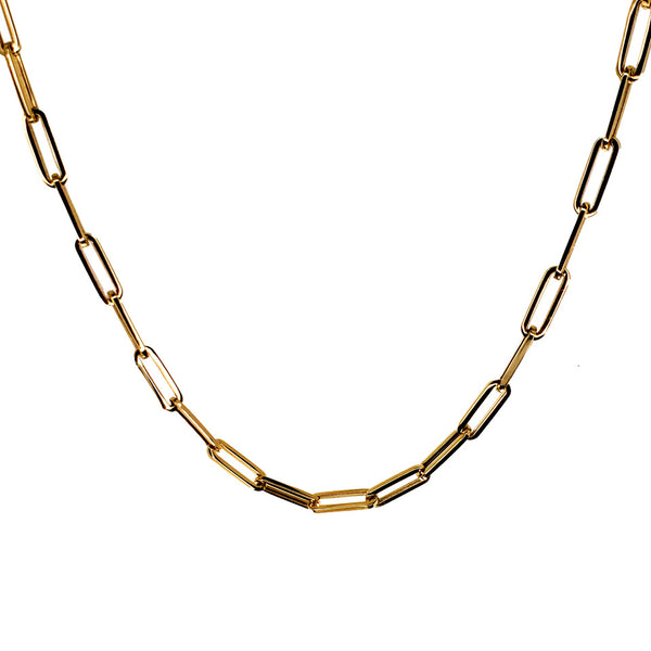 Super Colossal Link 14K Gold Chain Necklace - Designer Earrings - The EarStylist by Jo Nayor