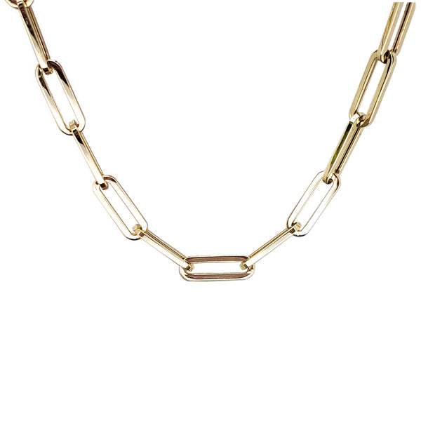Supreme Link 14K Gold Chain Necklace - Designer Earrings - The EarStylist by Jo Nayor