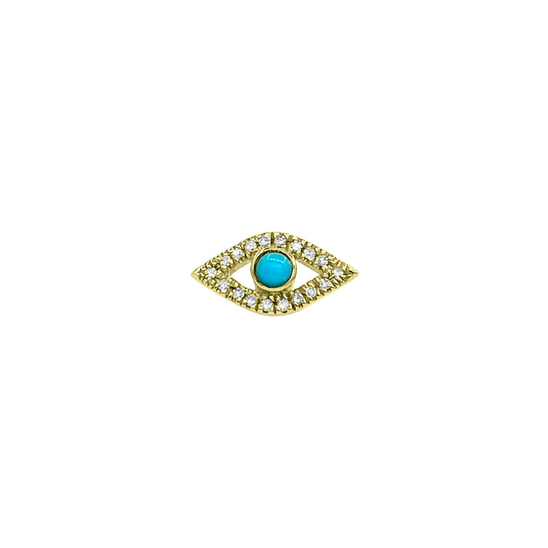 Turquoise Evil Eye Stud Earring - Designer Earrings - The EarStylist by Jo Nayor