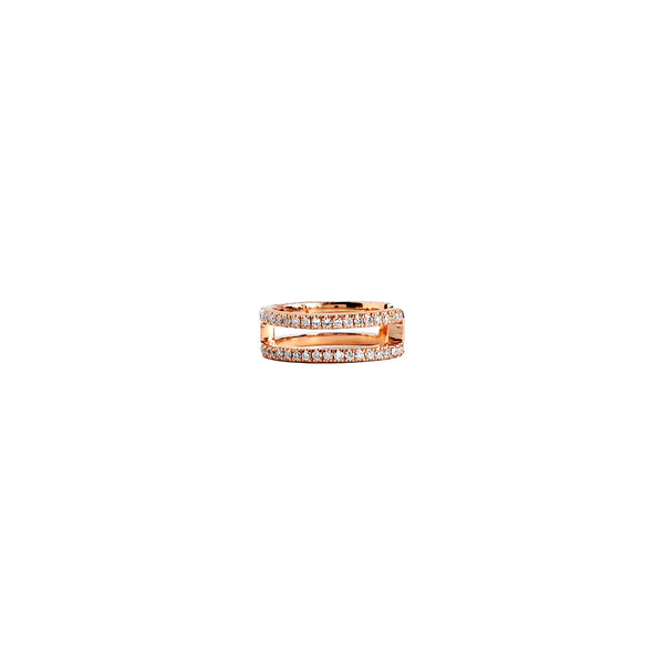 Two Layer Diamond Ear Cuff in 14K Rose Gold