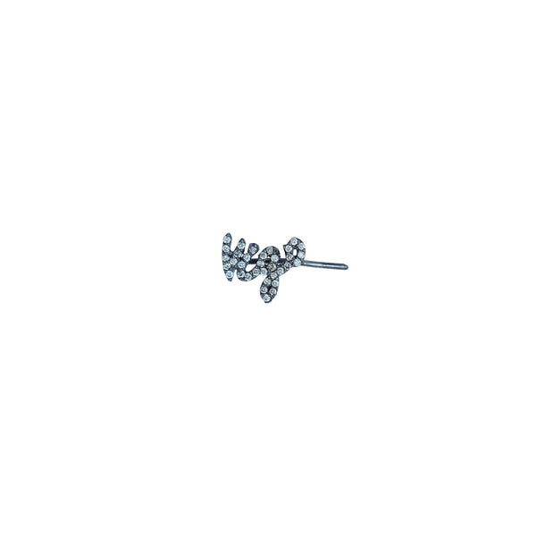 Diamond Name Ear Climber - The EarStylist by Jo Nayor - 3