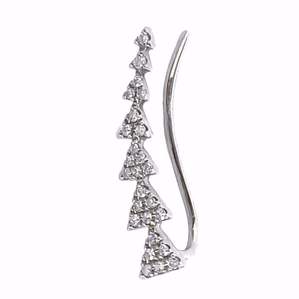 Gold and Diamond Triangle Climber Earring - Designer Earrings - The EarStylist by Jo Nayor