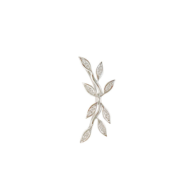 White Gold Diamond Vine Climber - Designer Earrings - The EarStylist by Jo Nayor