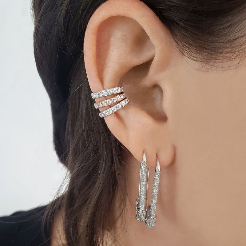 Diamond Low Rider Ear Cuff - Designer Earrings - The EarStylist by Jo Nayor