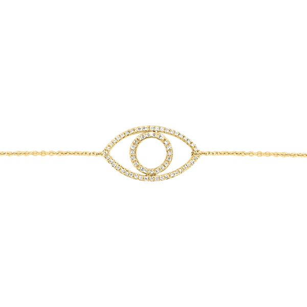 Diamond Silhouette Evil Eye Bracelet - Designer Earrings - The EarStylist by Jo Nayor