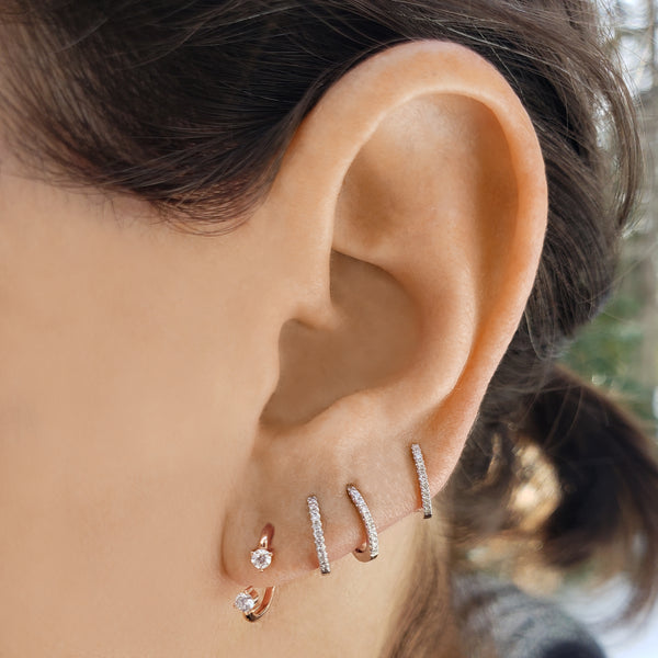 Diamond Orbit Earrings - Designer Earrings - The EarStylist by Jo Nayor