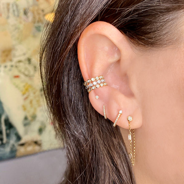 Diamond Luna Ear Cuff - Designer Earrings - The EarStylist by Jo Nayor