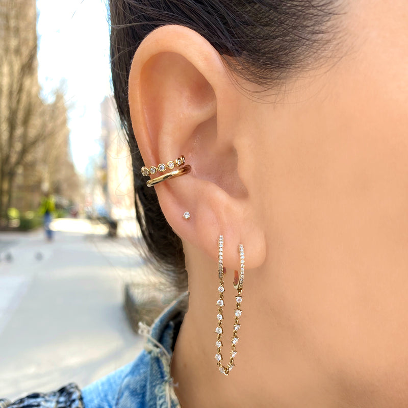 Skinny Gold Ear Cuff - Designer Earrings - The EarStylist by Jo Nayor