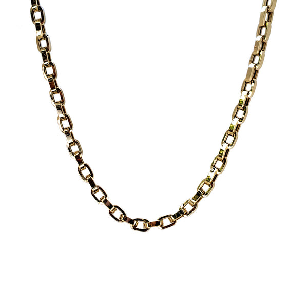 14K Gold Mega Link Chain Necklace - Designer Earrings - The EarStylist by Jo Nayor