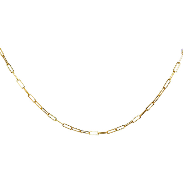 14K Gold Mini - Long Link Chain Necklace - Designer Earrings - The EarStylist by Jo Nayor