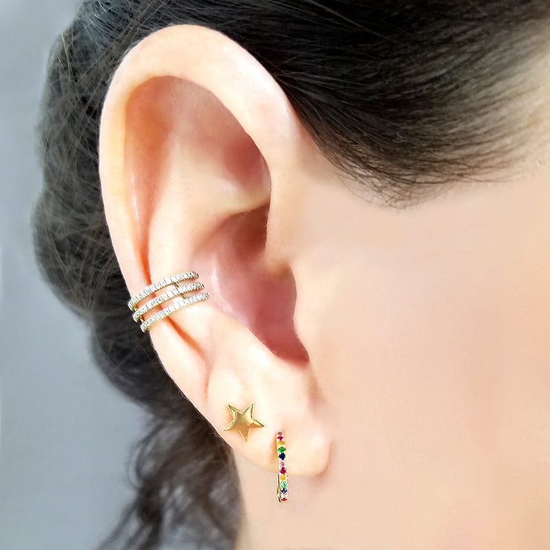 Small Rainbow Hoop Earrings - Designer Earrings - The EarStylist by Jo Nayor