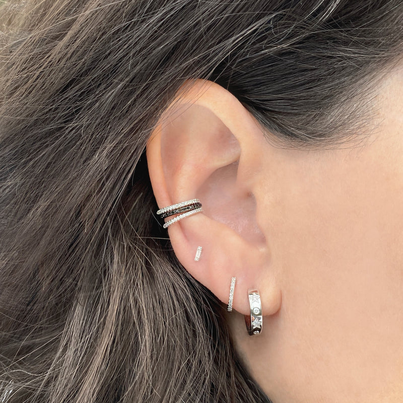 Mini Baguette Stud - Designer Earrings - The EarStylist by Jo Nayor