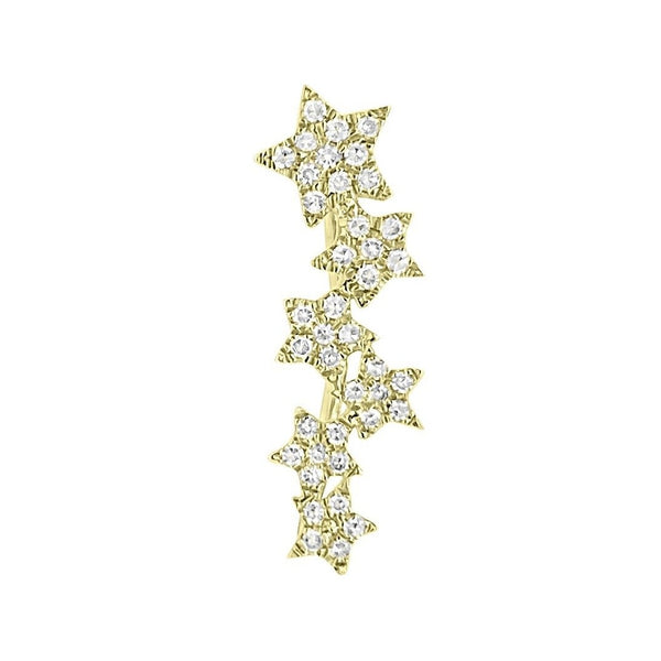 Stars Climber - Designer Earrings - The EarStylist by Jo Nayor