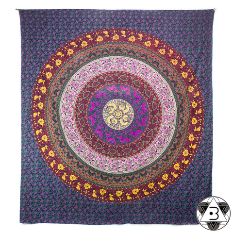 Purple Flower Mandala Throw