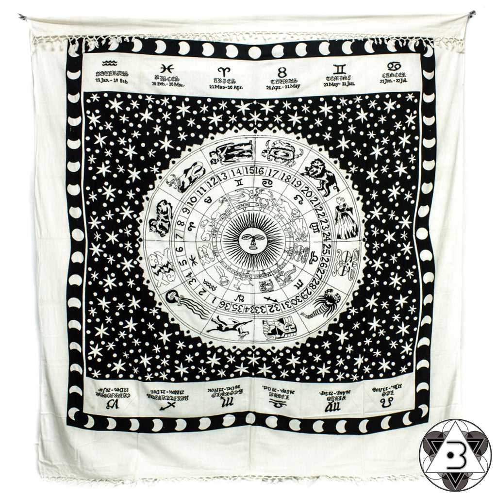 Black and White Zodiac Throw