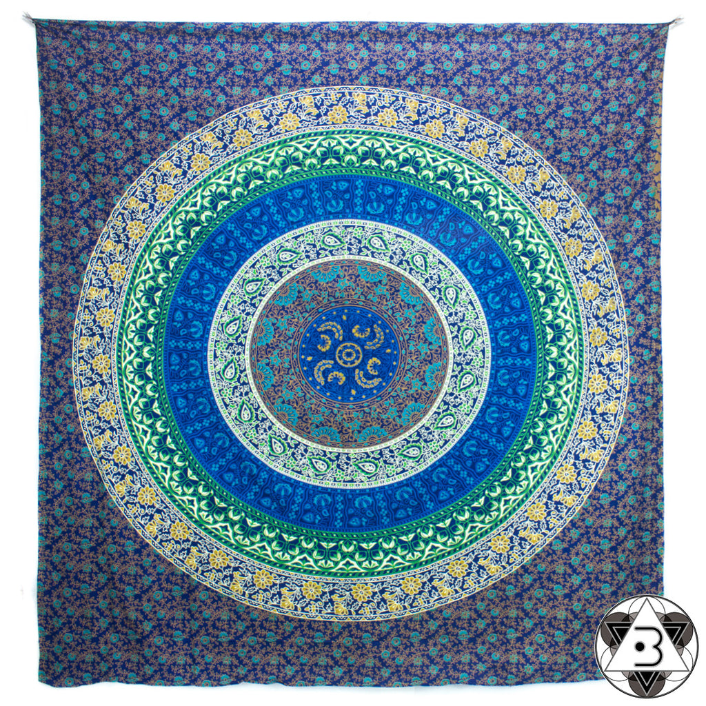 Blue Flower Mandala Throw